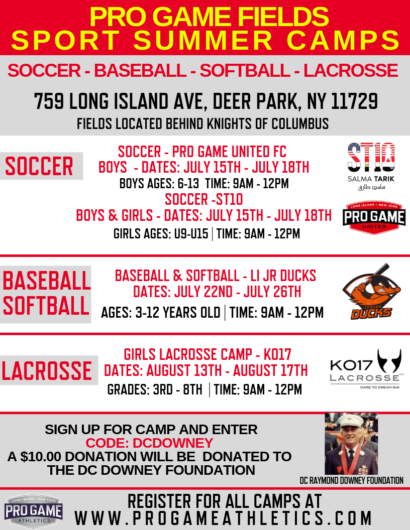 pro game sport summer camps